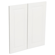 Kaboodle Gloss White Heritage Corner Base Cabinet Doors - 2 Pack