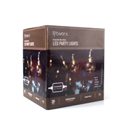 Lytworx Warm White LED Connectable Party Lights - 20 Pack