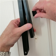 StorEase 45mm Black Single Over Door Hanger