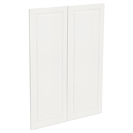 Kaboodle 900mm Gloss White Heritage Medium Pantry Doors - 2 Pack