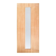 Woodcraft Doors 2040 x 820 x 40mm St Clair 02 Entrance Door With Frosted Safety Glass