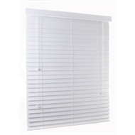 Zone Interiors 63mm Basswood Shutterview Venetian Blind - 1200mm x 2100mm Vivid White