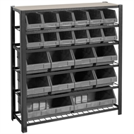 Handy Storage 950 x 900 x 270mm Black Boltless 6 Shelf Tote Unit