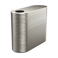 Kingspan 2000L Steel Slim Water Tank  - 850mm x 1560mm x 1900mm Dune