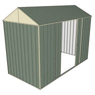Build-a-Shed 1.5 x 3.0 x 2.3m Gable Double Sliding Side Door Shed - Green