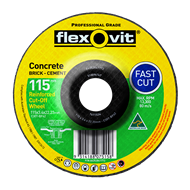 Flexovit 115 x 3.4 x 22.2mm Masonry Cutting Wheel
