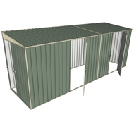 Build-a-Shed 1.5 x 5.2 x 2m Dual Single Hinged Side Door Skillion Shed - Green