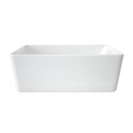 Caroma 1600 x 768 x 560mm White Cube 1600 Freestanding Bath