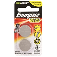 Energizer CR2025 Lithium Battery - 2 Pack