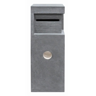 Northcote Pottery Grey Elite Monty Pillar Letterbox