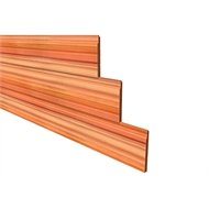 181 x 18mm Shiplap Tonge And Groove Eased Edge Cedar Cladding - Per Linear Metre