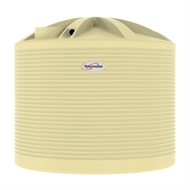 Polymaster 13700L Round Corrugated Poly Water Tank - Wheat