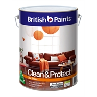British Paints Clean & Protect 10L Low Sheen Mid Interior Paint