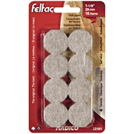 Madico 29mm Beige Round Feltac Floor Protection Pads - 16 Pack
