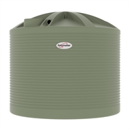 Polymaster 13700L Round Corrugated Poly Water Tank - Green Mist