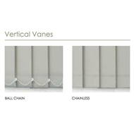 Riva 1924 x 2120mm 89mm Vane Essentials Made To Measure Block-Out Vertical Blind