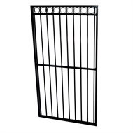 Protector Aluminium 975 x 1800mm Custom Double Top Rail All Rings Pedestrian Gate