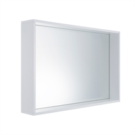 Cibo Design 900 x 600mm White Frame Mirror