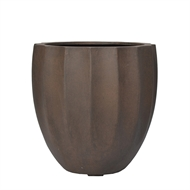 Lotus Collection 23 x 25cm Small Rust Lightweight Pot