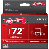 Genuine Arrow T72 9x15mm Insulated Staples - 300 Pack