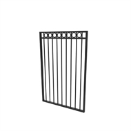 Protector Aluminium 975 x 1200mm Custom Double Top Rail All Rings Pool Gate