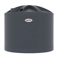 Polymaster 10200L Round Corrugated Poly Water Tank - Ironstone