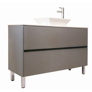 Forme 1200mm Quay Floor Vanity with Stone Iron Ore Cubo