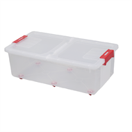All Set 47L Rolling Storage Container With Flip Lid