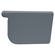 COLORBOND 115mm RH Quad Gutter Stop End - Ironstone