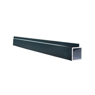 Connect-it 25.4 x 25.4 x 1.2mm 1.8m Black Anodised Aluminium Square Tube With Lip
