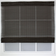Windoware California Matchstick Indoor Roman Blind - 1200mm x 2100mm Mahogany