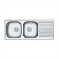 Radiant 1200mm Left Hand Double End Bowl Sink
