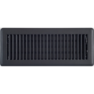 Accord 10 x 30cm Black Metal Louvered Floor Vent