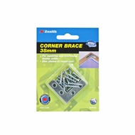 Zenith 38mm Zinc Plated Corner Brace Bracket - 4 Pack