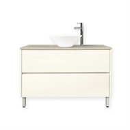 Forme 1200mm Colourstone / Antique White Quay Bell Floor Vanity