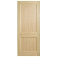 Corinthian Doors 820 x 2040 x 40mm Blonde Oak AWO 2 Entrance Door