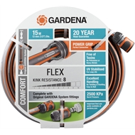 GARDENA 13mm x 15m Flex Fitted Garden Hose