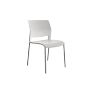 CeVello White Shell And Silver Legs Game Chair