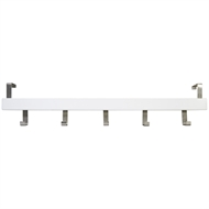 Perma Products 5 Chrome Over Door White Board Hook