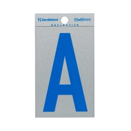 Sandleford 85 x 55mm 'A' Self Adhesive Blue Reflective Letter