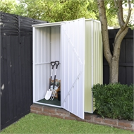 Pinnacle 1.5 x 0.8 x 2.0m Garden Shed - Cream