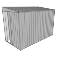 Build-a-Shed 1.5 x 3 x 2m Sliding Door Tunnel Shed - Zinc