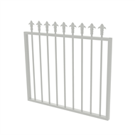 Protector Aluminium 975 x 900mm J Spear Top Garden Gate - To Suit Gudgeon Hinges - Surfmist