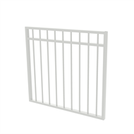 Protector Aluminium 975 x 900mm Double Top Rail All Up Garden Gate - To Suit Self Closing Hinges - Pearl White