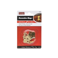 Prestige 26 x 51mm Solid Brass Decorative Hinge - 2 Pack