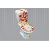 Loo With A View 2 Piece Mixed Colorful Flowers Toilet Seat