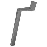 COLORBOND 100 x 50mm Adjustable Downpipe Offset - Basalt