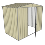 Build-a-Shed 2.3 x 1.5 x 2.3m Single Hinge Door Garden Shed - Cream
