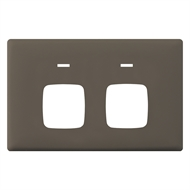 HPM LINEA Double Autoswitch Powerpoint Coverplate - Wet Elephant