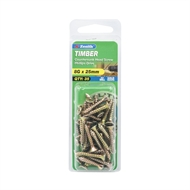 Zenith 8g x 25mm Countersunk Head Type 17 Timber Screws - 35 Pack